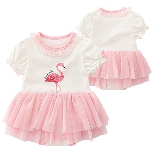 mmer mädchen Sommerkleid Prinzessin Kleid weiblich Baby Kleidung EIN Jahr alt Baumwolle weiblich Baby Sommerkleid,Pink-7~9Months ()