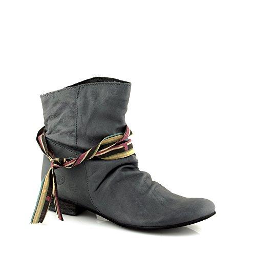 Felmini - Scarpe Donna - Innamorarsi com Faro 8755 - Stivali Classic - Pelle Genuina - Nero Nero