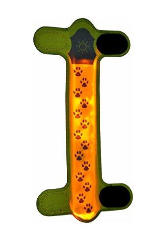nanook LED Leuchtstreifen - leuchtet und reflektiert - für Halsbänder, Leinen und Geschirre - Farbe: neon-grün Outdoor-grüne Led Leuchtet