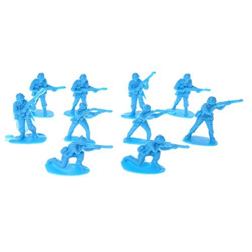 Dabixx Modell für Kinder, 10 stück Military Armee männer Kunststoff Spielzeug Soldaten Figuren Modell Spielzeug für Kinder Jungen - Blau (Spielzeug Armee Kunststoff Männer)