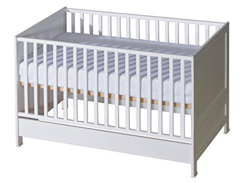 Belivin Babybett Milano - Umbaubar zum Juniorbett