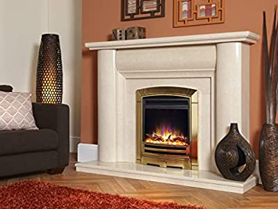 """New Designer Celsi Fire - Hearth Mounted Electric Fire 16"""" Electriflame XD Decadence Gold"""