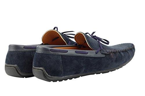 Herren Schwarz Braun Marineblau Blau Faux Wildleder Leder Smart Casual Mod Mokassin Slip auf Schuhe Dunkelblau