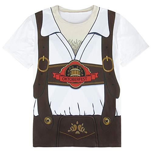 Cosavorock Herren Bayerische Oktoberfest Kostüm T-Shirts (XXL, -
