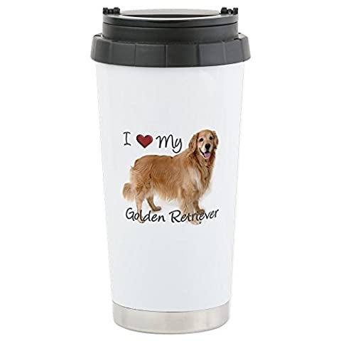 CafePress - Golden Retriever - Stainless Steel Travel Mug, Insulated 16 oz. Coffee & Tea Tumbler