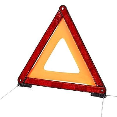 CARTO Warndreieck für Kraftfahrzeuge mit Kunststoffköcher - Sicherung von Unfall- und Gefahrenstellen / für PKW / KFZ / Auto - mit 2 Jahren Geld-zurück-Garantie