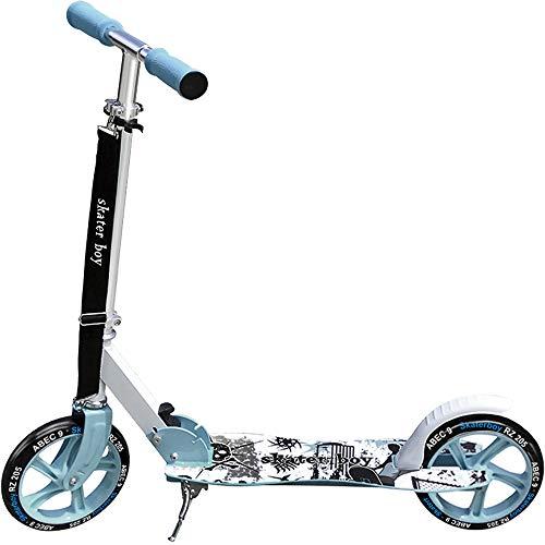 Deuba Scooter Roller Tretroller Cityroller | Big Wheel 205 mm PU-Rollen | klappbar | höhenverstellbar | Tragegurt | Seitenständer - 【Designwahl】