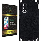 Back Mobile Skin For vivo V19 feel texture crocodile leather black by whats mob