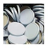 25 Stück X to 110 mm Weiß Schraubdeckel für Gläser • Twist Off Deckel Verschluss Ø 110mm • Ersatzdeckel To110 • 25,50,100,150,200,250,500 Stück • Große Auswahl Verschiedene Größen und Farben