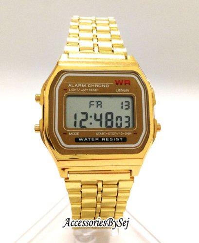 AccessoriesBySej (Deutsch Verkäufer) 3,8 cm Unisex-Armbanduhr Digital Damenuhr/Herrenuhr Retro Design Klassisch Uhr - Verfügt über Luxuriöse Geschenktüte von AccessoriesBySej - Von AccessoriesBySej TM