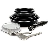 BACKEN 181001 -Set de poêles et casseroles -10 Pièces Noir -Tous feux dont induction