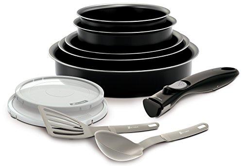 Backen 181001 -Set de poêles et casseroles -10 Pièces Noir -Tous feux dont inductio