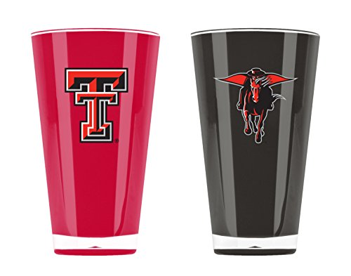 Duck House NCAA Texas Tech Red Raiders Thermobecher aus Acryl, 570 ml, 2 Stück