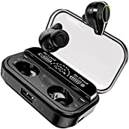 U-ROK Wireless Earphones Bluetooth 5.0 Earbuds with 4000mAh Charigng Case LED Digital Display Touch Control 90