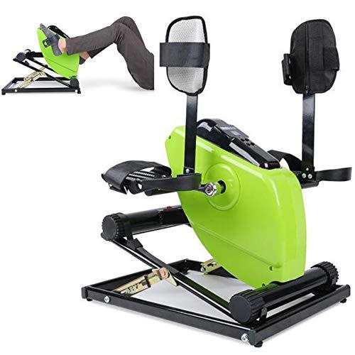 Mini cyclette elettrica motorizzata con telecomando fitness, pedale ginnico, pedale elettrico per anziani bicicletta portatile per braccia con supporto gambe e base