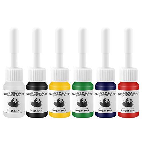 6 Teile/satz Professionelle Multi Farben Tattoofarbe Pigment Set Kits 5 Ml Flaschen