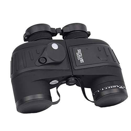 Preisvergleich Produktbild Zerama 10x50 HD Kompass wasserdicht Teleskop-Entfernungsmesser Nachtsicht Binocle Navigation Fernglas im Freien
