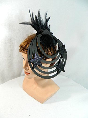 extravaganter Fascinator Alien Headpiece Kopfschmuck Derby Cocktail Damenhut Hütchen Hingucker