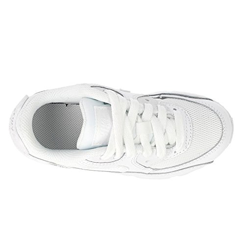 Nike Air Max 90 Mesh (Ps), Baskets Basses Mixte Bébé, Blanc weiss