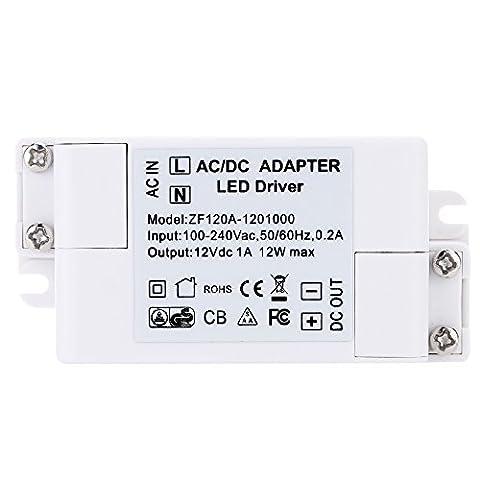 Gazechimp AC 100-240V à DC 12V 12W LED Adaptateur Transformateur Pilote Alimentation