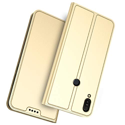 Forhouse Asus ZenFone Max Pro M1 Leder Hülle, Premium PU Ledertasche etui Schutzhülle Tasche mit Ständer Slim Flip Case für Asus ZenFone Max Pro M1 (Golden)