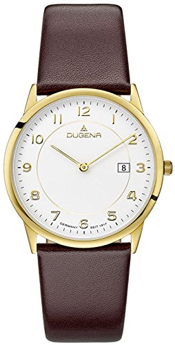 Dugena Men's Analogue Quartz Watch with Leather Strap 4460743