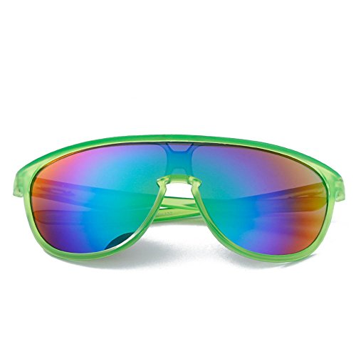 Yiph-Sunglass Sonnenbrillen Mode Erwachsene Outdoor-Brillen Geeignet für Outdoor-Radsportliebhaber Radfahren Brillen Fahrrad Farbwechsel Gläser (Farbe : Grün)