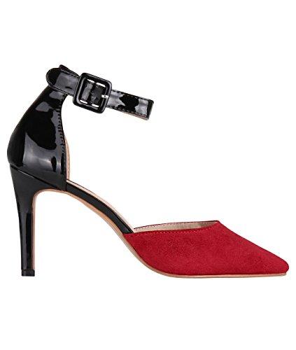 KRISP® Femmes Sandales ou Escarpins Tendance Différents Modèles Rouge (4411)