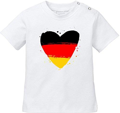 EZYshirt D1 WM 2018 Deutschland Baby T-Shirt Bio Baumwolle