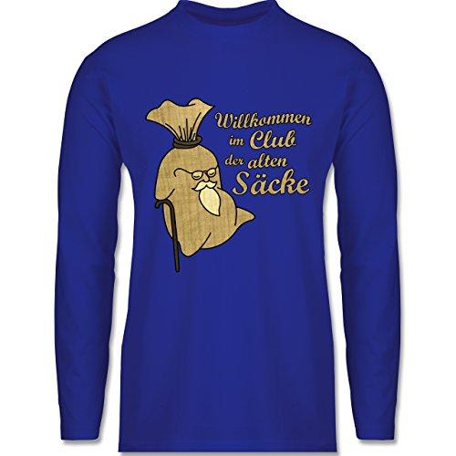 Geburtstag - Willkommen im Club der alten Säcke - Longsleeve / langärmeliges T-Shirt für Herren Royalblau