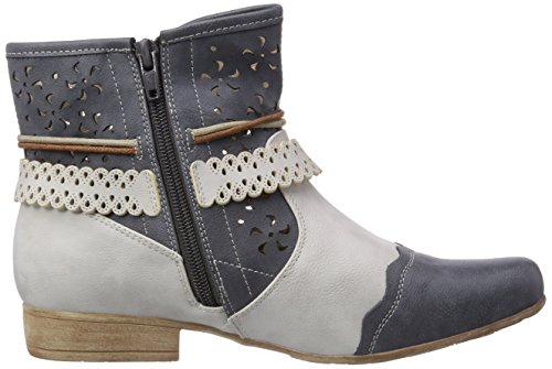 Rieker 97055 Damen Halbschaft Stiefel Blau (jeans/ice / 14)