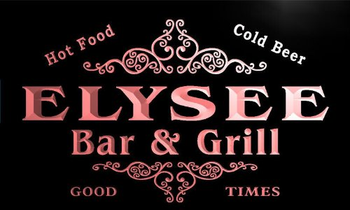 u13238-r ELYSEE Family Name Gift Bar & Grill Home Beer Neon Light Sign Barlicht Neonlicht Lichtwerbung -