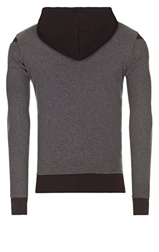 WOOSAH Herren Sweatshirt Shaco anthracite melange / white / black (110302)