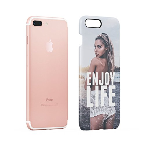 Relax Hot Model Girl On The Beach High Life Sommer Tropical Paradise Dünne Rückschale aus Hartplastik für iPhone 6 & iPhone 6s Handy Hülle Schutzhülle Slim Fit Case cover Enjoy Life