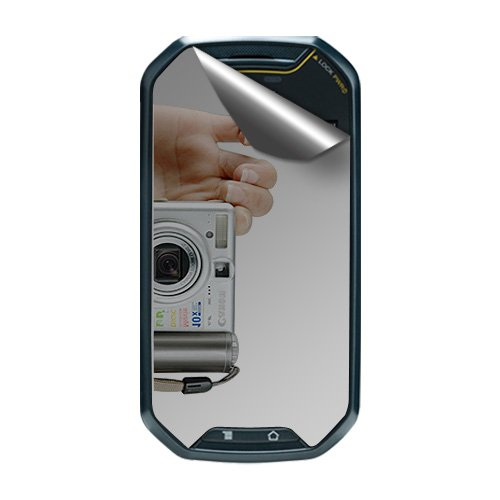Amzer Displayschutzfolie mit Reinigungstuch für Pantech Crossover-1Pack-Retail Verpackung-Spiegel (Pantech Handy Crossover)