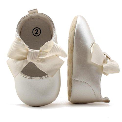 Saingace Krabbelschuhe,Baby Bowknot Prinzessin Soft Sohle Schuhe Kleinkind Turnschuhe Freizeitschuhe Weiß
