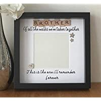 Brother of the Bride Framed Wedding Gift Walk Me Down The Aisle Thank You Gift Brides Brother