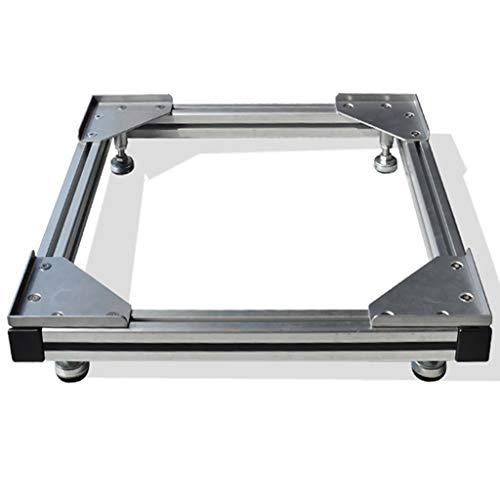Yxsd Aluminium-Kühlschrank Waschmaschine Base, verstellbare Höhe Heavy-Duty voll einstellbare quadratische Appliance Base -