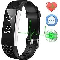 Montre Connectée Smartwatch Podometre Etanche IP67 Montre Cardiofrequencemetre pour Femme Homme Enfant Moniteur de Sommeil 14 Multi-Sports Rappel d'Appel et SMS Compatible avec Android et iOS Aneken