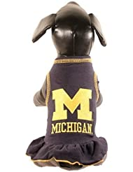 NCAA Michigan Wolverines Collegiate Cheerleader Dog Dress, Small by All Star Dogs