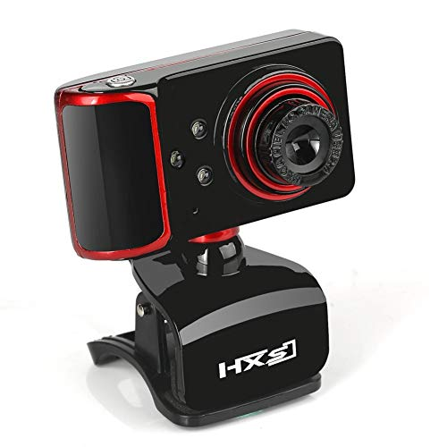 Computerkamera HD 480P Webcam, Full HD Videoanruf und Aufnahme Dual Stereo Audio Stream Gaming mit Mikrofonen Small Agile,Black Agile Stereo
