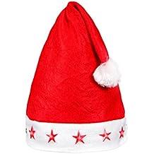 Weihnachtsmütze Nikolausmütze Rot Plüsch Mütze Santa Dicker Fellrand Soft Weich