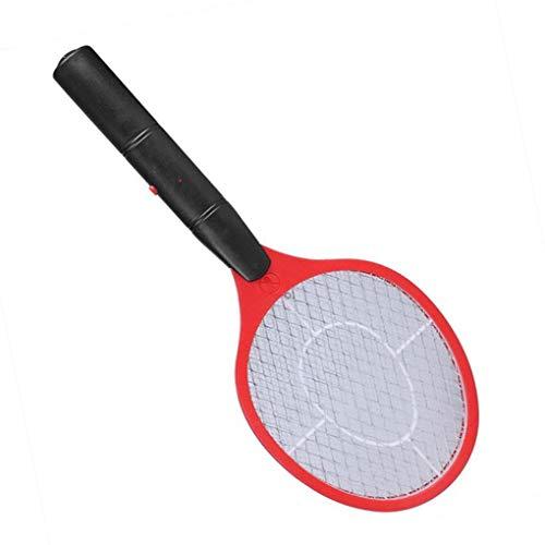 Lorsoul Triple-Nets Haus Fliegenklatsche Elektrische Plagemit Bug Zapper Racket Wireless-Langer Griff - 1 Gallone Licht