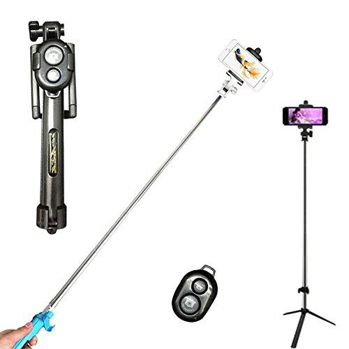 GCBTECH Selfie Stick con mini Aggiustabile treppiede,