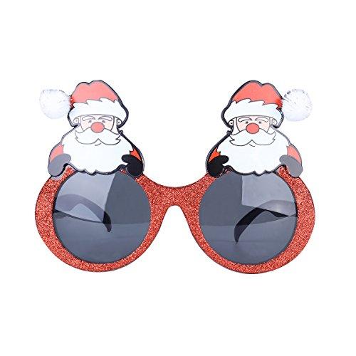 Kinder Muster Kostüm Weihnachtsmann (Tinksky Weihnachts-Party-Sonnenbrille-Brillen Glitzernde Weihnachtsmann-Gläser Neuheit-Kostüm-Sonnenbrille Weihnachtsdekoration (graue)