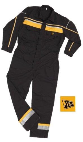 JCB Sudbury - Tuta da Lavoro da Uomo, Taglia Small, Colore Nero