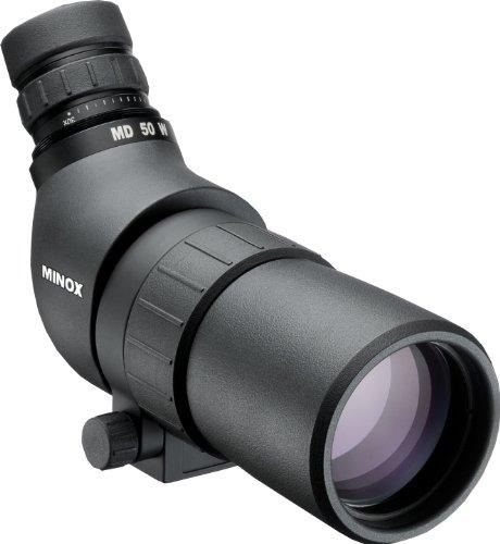 MINOX MD 50 W Spektiv - Kompaktes Spektiv mit Winkeleinblick & 16-30-facher Vergrößerung für Vogel- & Naturbeobachtung - Taschenspektiv inkl. Bereitschaftstasche aus Nylon Vogel-grenze