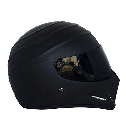 LEAGUE&CO Motorrad Helmets Helm Motorradhelm Helmets Alien Integralhelm Visier Offroad Racing Motocross für Honda Yamaha Suzuki Kawasaki Bandit Helm (M, Schwarz (Getönte)) - 5