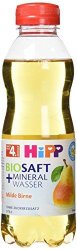 Hipp Biosaft und Mineralwasser, Milde Birne, 6er Pack (6 x 500ml)
