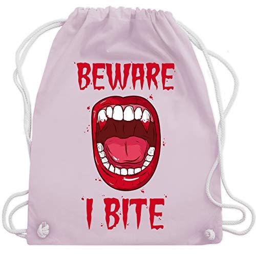 Halloween - Beware - i bite - Unisize - Pastell Rosa - WM110 - Turnbeutel & Gym Bag